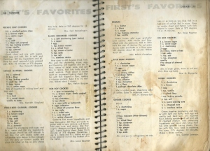 Grandma D cookbook
