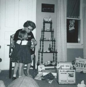 me and grandma and little stove