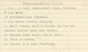 Frosting-Filling Recipe