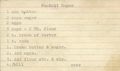 No Roll Sugar Cookies