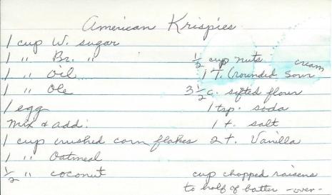 American Krispies Cookies