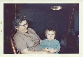 Grandma D and me