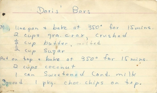 Doris' Bars