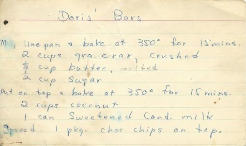 Doris' Bars