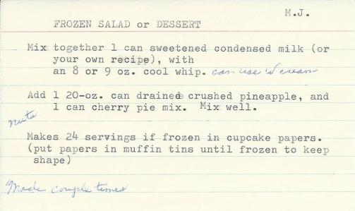 Frozen Salad or Dessert