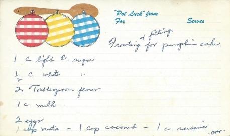 Pumpkin Cake Frosting