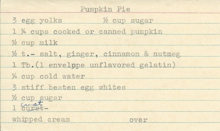 Pumpkin Pie and Crust