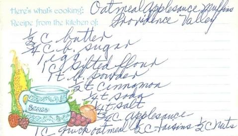 Oatmeal Applesauce Muffins