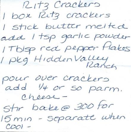 Spicy Ritz Cracker Snack