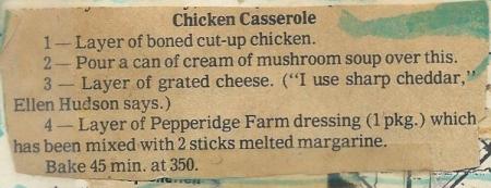 Alice's Chicken Casserole