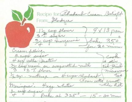 Rhubarb Cream Delight